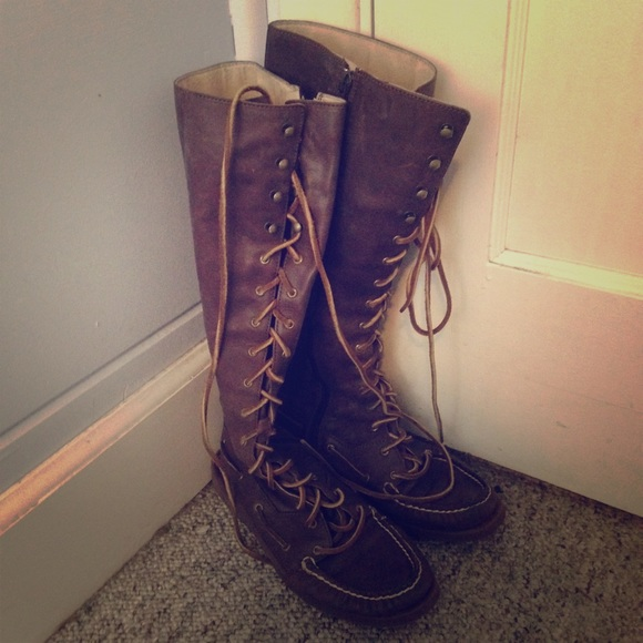 Amazing Sperry Lace Up Boots | Poshmark