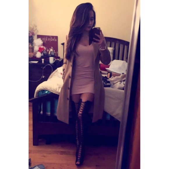 61 boots lace up heels thigh high boot tom ford