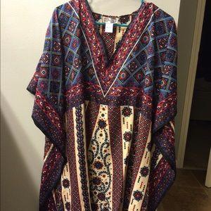 Dresses & Skirts - Summer boho gypsy tunic caftan poncho beach