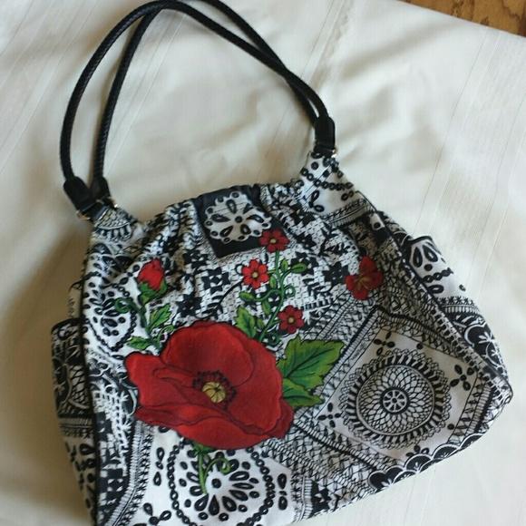 75 Off Brighton Handbags Brighton Fabric Bag W Flower