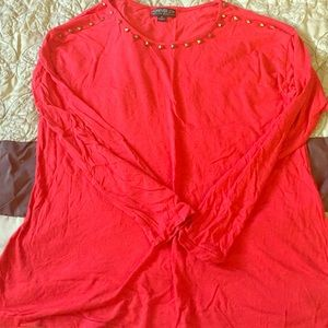 Forever 21 Tops - Red studded long sleeve top