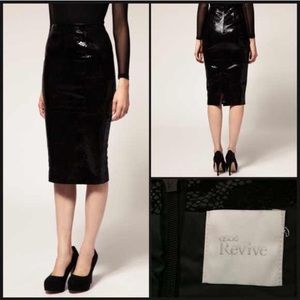 Asos Revival patent leather pencil skirt in snake