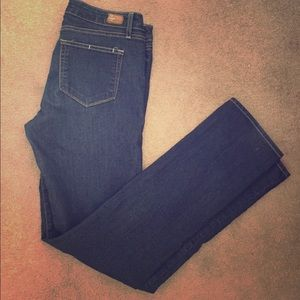 Paige Peg Straight jeans in classic blue size 30