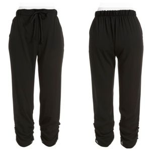 Black Slouchy Jogger Pants