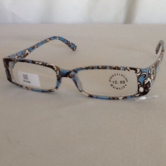 4695706619c6 New Blue and Brown Reading Glasses +2.00