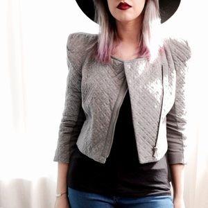 BCBGMaxAzria Jackets & Coats - BCBG Gray Quilted Jacket