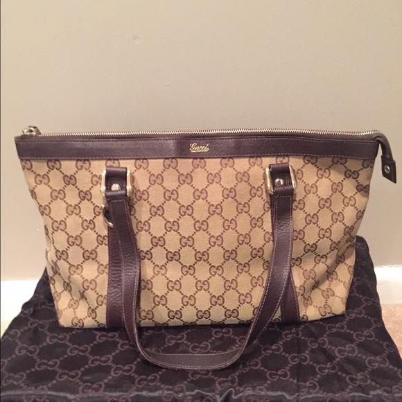 434fa8f59ea4 Gucci Handbags - GUCCI Gg Canvas Monogram Medium Abbey D-ring Tote