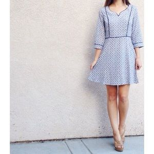 | new | blue patterned dress