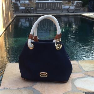 Michael Kors Navy Blue Marina Grab Bag