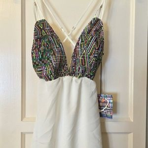 Colorful halter dress