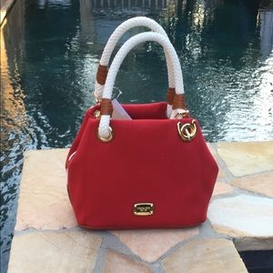 Michael Kors Red Marina Grab Bag