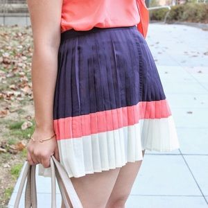 Forever 21 Pleated Color Block Skirt