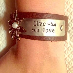 "HP! ""Live What You Love"" ✌️❤️  Boho Bracelet"