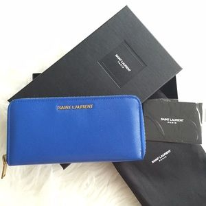 Saint Laurent Zip Continental Wallet