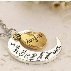 Daughter I love you to the Moon and Back Necklace