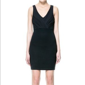 Zara basic black dress