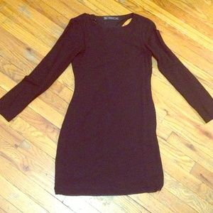 Zara Trf black mini dress open back size small