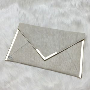 ASOS Clutches & Wallets - Ivory & Gold Envelope Clutch ASOS