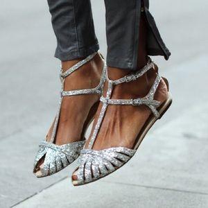 RESERVED 🎁 Zara glitter flats RARE