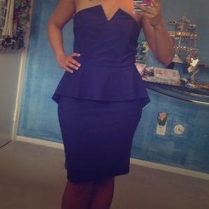Joyce Leslie Dresses & Skirts - Navy peplum dress