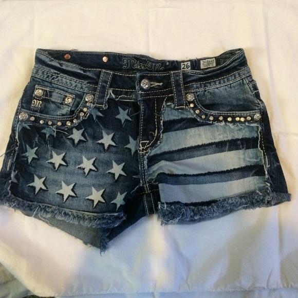 4c17b20a7aef American Flag Patriotic Miss Me Denim Shorts. M 5536afedbf6df567570048b6