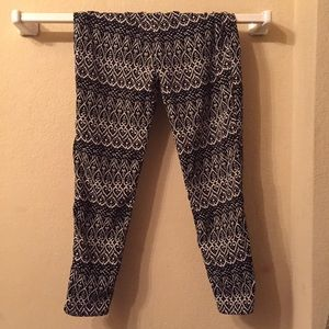 Black and white parachute pants
