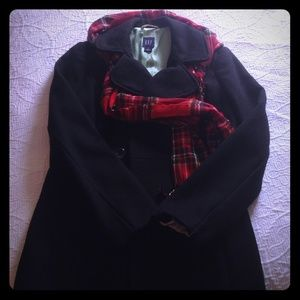 Gap black peacoat size small