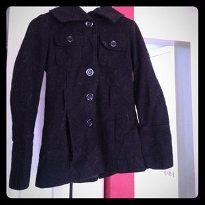 Small black Juniors trench coat