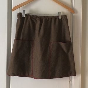 Kara line brown corduroy skirt