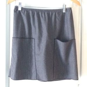 Kara line gray wool skirt