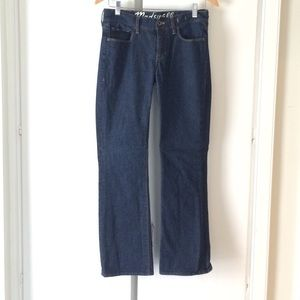 Madewell dark wash straight leg jeans