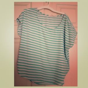 Forever 21 Tops - Cute Mint & White Striped Top