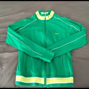 Green Nike Jacket with Yellow accents