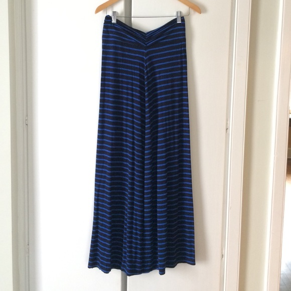 J. Crew Dresses & Skirts - Blue and black J. Crew maxi skirt