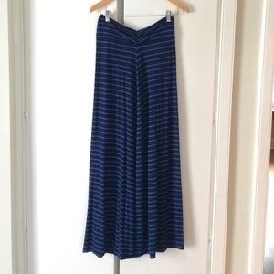 Blue and black J. Crew maxi skirt