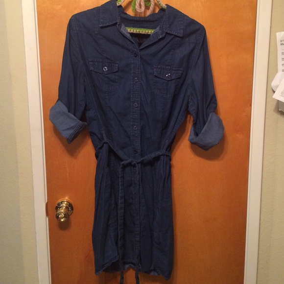 48fac7e96a96a Lane Bryant Dresses   Skirts - Lane Bryant denim shirt dress