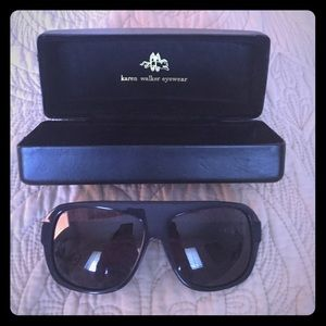 Karen Walker Dynamite Sunglasses in Navy, Rare!