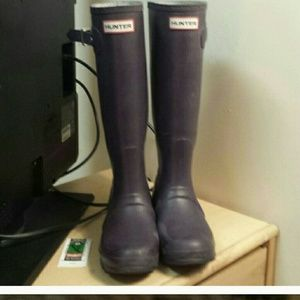 Hunter Rain Boots (tall) in Aubergine