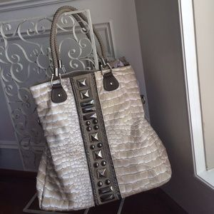 NWT beige cream color bag