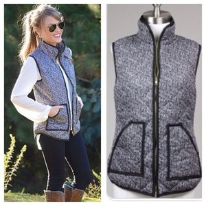 ❗COMING THURS❗ Sleeveless Herringbone Puffer Vest