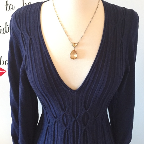 Max Studio Dresses - Cute Navy Max Studio Knit Dress