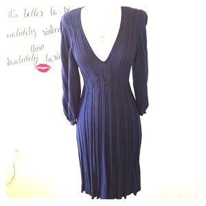 Cute Navy Max Studio Knit Dress