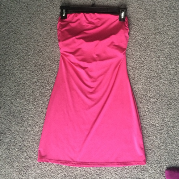 ab2a9169bc5 Forever 21 Dresses   Skirts - Forever 21 hot pink Barbie tube top dress