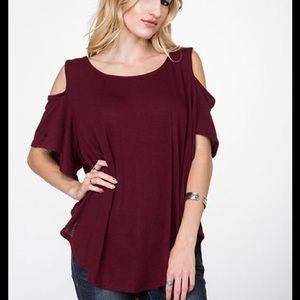 PLUM Cold Shoulder Tunic- last one!