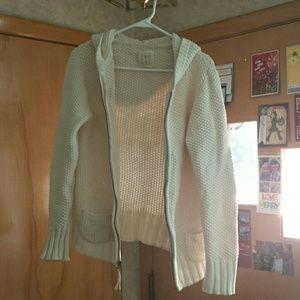 Old Navy cream colored zip-up hoodie