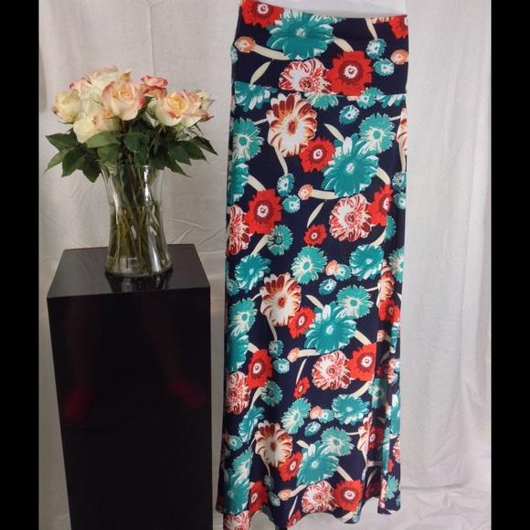 49 dresses skirts funky flowers maxi skirt