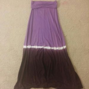 Purple Ombre Maxi skirt and maxi dress