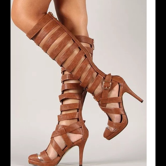57% off Urban Shoes - Strappy knee high gladiator heels sandals in