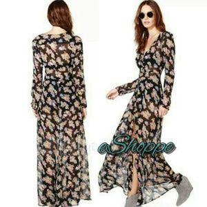 Dresses & Skirts - SALE! Floral Long Chiffon Dress/Top