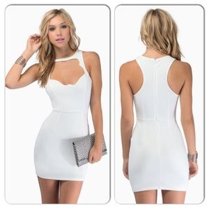 NWOT TOBI WHITE BODYCON DRESS SIZE XS